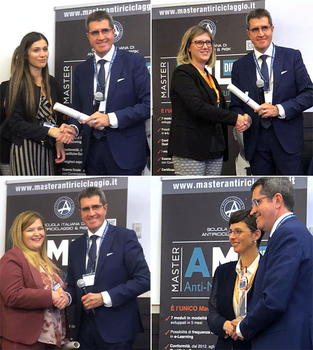 "ROMA: ALLA BANCA MONTE PRUNO IL PREMIO ""BEST IN AML TRAINING 2019"""